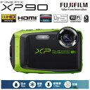富士フイルム デジタルカメラ FinePix XPシリーズ XP90 FX-XP90LM ライム 【