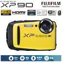 富士フイルム デジタルカメラ FinePix XPシリーズ XP90 FX-XP90Y イエロー 【送料無料】【KK9N0D18P】