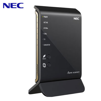 NEC 11ac対応 1300Mbps + 450Mbps 無線LANルーター Wi-Fiルーター Aterm WG1800HP2 PA-WG1800HP2 【送料無料】【KK9N0D18P】