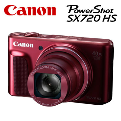 CANON コンパクトデジタルカメラ PowerShot SX720 HS パワーショット PSSX720HS-RE レッド 【送料無料】【KK9N0D18P】