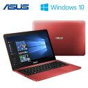 ASUS ノートパソコン 11.6型 Windows EeeBook 32GB X205TA-RED10 レッド 【送料無料】【KK9N0D18P】
