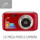 デジタルカメラ 12 MEGA PIXELS レッド JOY50SR ジョワイユ 【送料無料】【KK9N0D18P】
