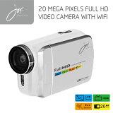 FULLHDビデオカメラ with Wi-Fi ホワイト JOY8251WH ジョワイユ 【送料無料】【KK9N0D18P】