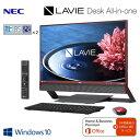 NEC デスクトップパソコン LAVIE Desk All-in-one DA770/EAR 23.8型ワイド PC-DA770EAR クランベリーレッド 20...