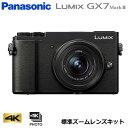 【キャッシュレス5%還元店】パナソニック ミラーレス一眼カメラ ルミックス LUMIX Gシリーズ GX7 Mark III 標準ズームレンズキット DC-GX7MK3K-K ブラック【送料無料】【KK9N0D18P】