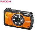 リコー タフネスカメラ RICOH WG-6 本格防水 耐衝撃 防塵 耐寒 4K動画 デジタルカメラ WG-6-OR オレンジ