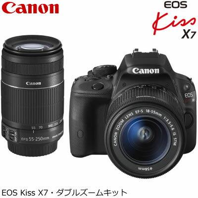 【即納】【修理完了品】キヤノン デジタル一眼レフカメラ EOS Kiss X7 ダブルズームキット KISSX7-WKIT 【送料無料】【KK9N0D18P】【アウトレット・訳あり】