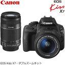 キヤノン デジタル一眼レフカメラ EOS Kiss X7 ダブルズームキット KISSX7-WKIT 【送料無料】【KK9N0D18P】