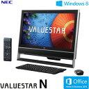 NEC デスクトップパソコン VALUESTAR N VN770/MS 21.5型ワイド PC-VN770MSB ファインブラック 【2013年夏モデル】【送料無料】【楽天イーグルス日本一セール】