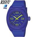 【キャッシュレス5%還元店】電子マネー Edy搭載 腕時計 RISNY RS-001M-04 バイオレット【送料無料】【KK9N0D18P】