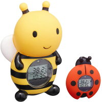 湯温計:パパジーノ時計付きミツバチのお風呂用温度計RBTM002