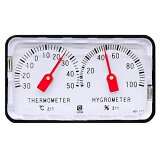 超小型なバイメタル温度計!温湿度計:小型精密アナログ温湿度計HD-120【郵送可¥250】【02P19Mar14】