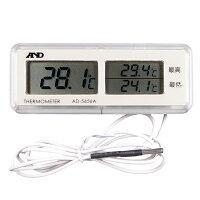 最高最低温度を同時表示する防水温度計AD-5656A