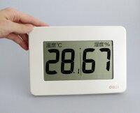 大型デジタル温湿度計CR-3000と手