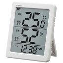 温湿度計:でか文字デジタル温度湿度計&時計N-026(壁掛・卓上)【郵送可¥260】【02P29Aug16】