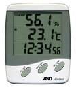 デジタル温度計:時計/外部センサー付き温・湿度計AD-5680【郵送可¥400】