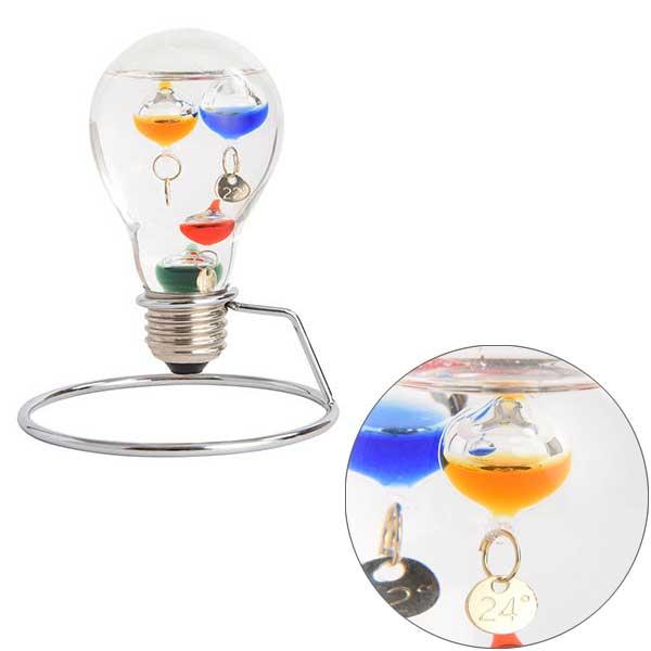 ガリレオ温度計 電球型 18cm×12cm オシャレな温度計(電光ホーム)