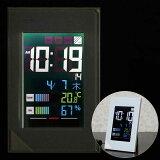温湿度計つきLED電波時計「デジスタイル114」8RZ123RH03(壁掛・卓上)【05P03Dec16】