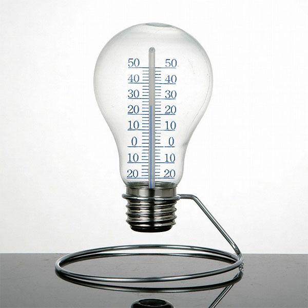 温度計:DULTON製ユニークな電球型温度計(卓上)【メール便可¥320】