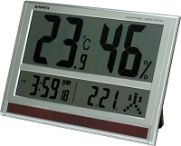 ソーラーデジタル温度湿度計&電波時計