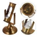 砂時計:真鍮の3分サンドタイマー&コンパス G559-561