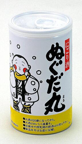 秋田清酒 出羽鶴 ぬぐだ丸火入れ缶 180ml