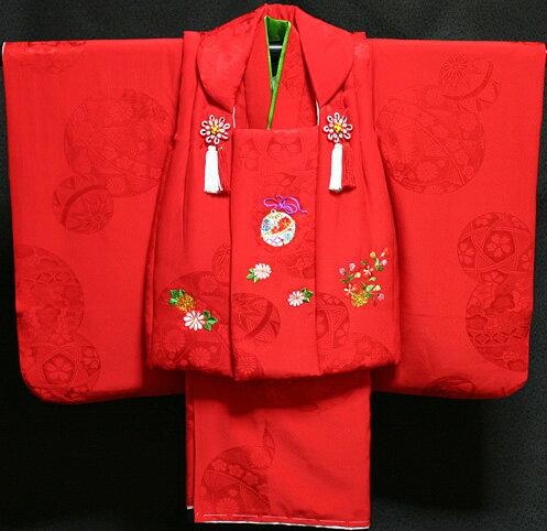 七五三 着物 3歳 女の子 正絹 被布セット 新品73j290...:akogareyume:10000379