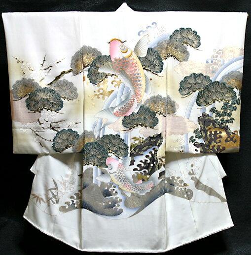 お宮参り 着物 男 男児祝着 正絹のしめ 初着 産着 新品d5003