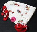 七五三着物 女児三歳用被布セット正絹 新品ht204