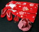 七五三着物 女児三歳用被布セット正絹 新品ht181