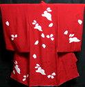 お宮参り 女の子 着物 女児祝着 正絹 のしめ 初着 産着 新品j5001