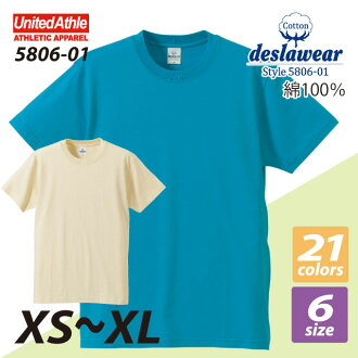 4.0 Oz short sleeve t-shirt (sizes XS-XL) / athle UNITED ATHLE #5806-01 plain
