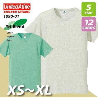 4.4oz try blend T-shirt / ユナイテッドアスレ # 1090-01, 03 plain fabrics