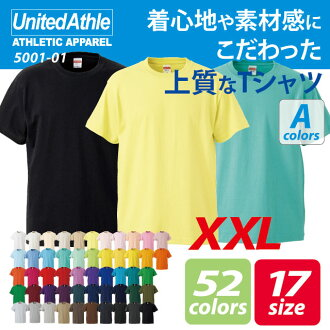 5.6 Ounces and a half sleeve t-shirt ( XXL ) / athle UNITED ATHLE #5001-01 plain.