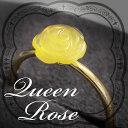 バルト海の美しいローズリングです!ヨーロッパ新作ブランド【18Kゴールドリング】【キュートな薔薇の指輪】ロイヤルアンバー【送料無料・ケース保証書付】【1117PUP10】