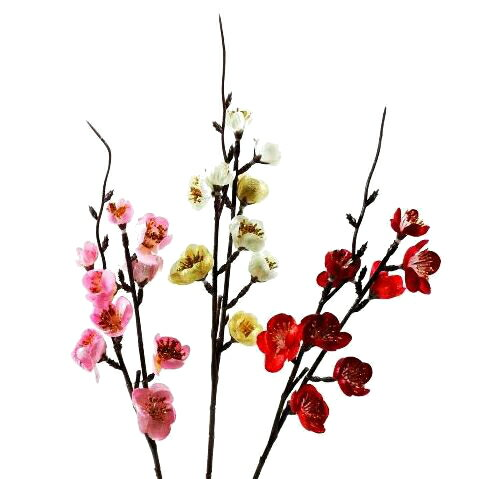 【造花・春・正月】ラメ入りウメ / うめ 梅 / ディスプレイ・素材 | FS-5117 / FS5117