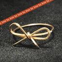 バイボー byboe リボン モチーフ リング Ribbon Ring GOLD イニシャルネックレス リボンリング ブレスレット セレブ 愛用 05P03Dec16 レディース メール便 【楽ギフ_○○】【us】■