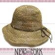 【メール便OK】 NEW YORK HAT ニューヨークハット ストローハット 麦わら帽子 Sea Grass Framer(海藻)NATURAL 紫外線対策 雑誌掲載 【楽ギフ_○○】【RCP】