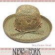 SALENEW YORK HAT ニューヨークハット ストローハット 麦わら帽子 Sea Grass Floppy 紫外線対策 雑誌掲載 【楽ギフ_○○】【RCP】