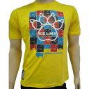 KELME ケルメ Tシャツ フットサル サッカー 半袖 KT1180S イエロー 黄色 Lサイズ