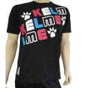KELME ケルメ Tシャツ 半袖 フットサル サッカー KT1181S ブラック 黒 XLサイズ