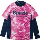 SPAZIO スパッツィオ ジュニア プラクティスシャツ 長袖 インナー付き GE0353 ピンク フットサルシャツ サッカー・フットサルユニフォーム 練習着 スパッチオ チーム レディース メンズ