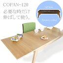 テーブルローテーブル伸縮できるのでとっても便利です。