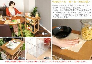 木製キッチンワゴンキャスター付き