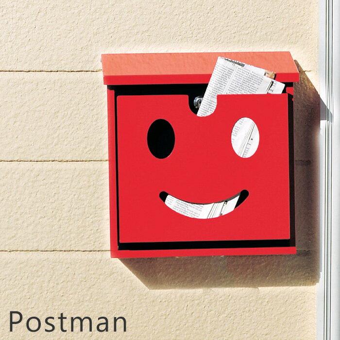 ポスト 郵便ポスト 壁付け 北欧 おしゃれ 郵便受け 郵便 壁掛けポスト 門柱 受け メール便 レトロ メールボックス 壁掛け 戸建て 鍵付き キーロック ウォールポスト かわいい レッド 赤 白 ホワイト