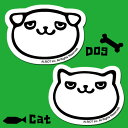 アルビオオリジナルステッカー Dog&Catステッカー 3枚組(メール便(ネコポス)発送OK)