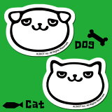 アルビオオリジナルステッカー Dog&Catステッカー 3枚組【メール便発送OK】