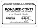 2004 DRCロマネコンティ Romanee Conti