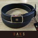 DAKS ダックス ベルト バックル式 スライド式 牛革 DB20950-01 日本製