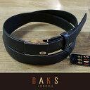 DAKS ダックス ベルト L寸(ロングサイズ) バックル式 スライド式 牛革 DB24770-L-01 日本製